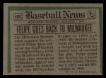 1974 Topps Traded #485 T  -  Felipe Alou Traded Back Thumbnail