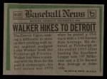 1974 Topps Traded #612 T  -  Luke Walker Traded Back Thumbnail