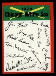 1974 Topps Red Checklist   White Sox Front Thumbnail