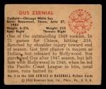 1950 Bowman #4  Gus Zernial  Back Thumbnail