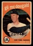 1959 Topps #345  Gil McDougald  Front Thumbnail