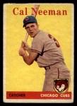1958 Topps #33 ^WT^ Cal Neeman  Front Thumbnail