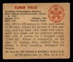 1950 Bowman #49  Elmer Valo  Back Thumbnail