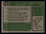 1974 Topps #592  Ed Bane  Back Thumbnail