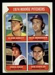 1974 Topps #602   -  Glenn Abbott / Rick Henninger / Craig Swan / Dan Vossler Rookie Pitchers    Front Thumbnail