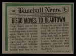1974 Topps Traded #151 T Diego Segui  Back Thumbnail