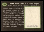 1969 Topps #181  Pete Perreault  Back Thumbnail