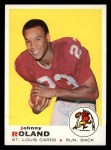 1969 Topps #225  Johnny Roland  Front Thumbnail