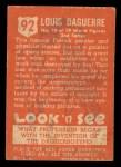 1952 Topps Look 'N See #92  Louis Daguerre  Back Thumbnail