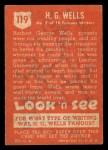1952 Topps Look 'N See #119  H.G. Wells  Back Thumbnail