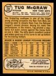 1968 Topps #236  Tug McGraw  Back Thumbnail