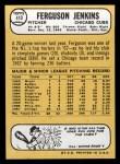 1968 Topps #410  Ferguson Jenkins  Back Thumbnail