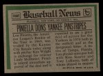 1974 Topps Traded #390 T  -  Lou Piniella Traded Back Thumbnail