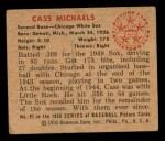 1950 Bowman #91  Cass Michaels  Back Thumbnail