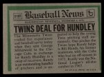 1974 Topps Traded #319 T  -  Randy Hundley Traded Back Thumbnail