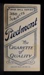 1909 T206  Doc Adkins  Back Thumbnail