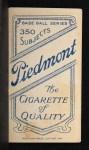 1909 T206 BUF Heinie Smith  Back Thumbnail