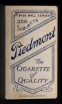 1909 T206  Herman Armbruster  Back Thumbnail