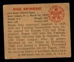 1950 Bowman #242  Dick Kryhoski  Back Thumbnail