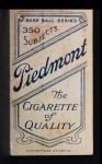 1909 T206  Jack Hannifin  Back Thumbnail