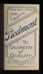 1909 T206  Dolly Stark  Back Thumbnail