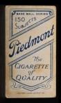 1909 T206  Bill Shipke  Back Thumbnail
