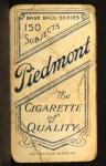 1909 T206  Harry Niles  Back Thumbnail
