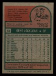 1975 Topps Mini #13  Gene Locklear  Back Thumbnail