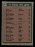 1975 Topps Mini #307   -  Mike Schmidt / Rich Allen HR Leaders   Back Thumbnail