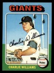 1975 Topps Mini #449  Charlie Williams  Front Thumbnail
