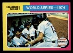 1975 Topps Mini #462   -  Walter Alston / Joe Ferguson 1974 World Series - Game #2 Front Thumbnail
