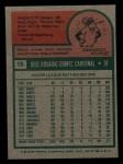 1975 Topps Mini #15  Jose Cardenal  Back Thumbnail
