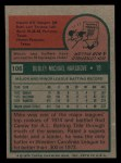 1975 Topps Mini #106  Mike Hargrove  Back Thumbnail