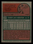 1975 Topps Mini #137  Terry Forster  Back Thumbnail
