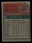 1975 Topps Mini #158  Jerry Grote  Back Thumbnail