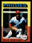 1975 Topps Mini #162  Willie Montanez  Front Thumbnail