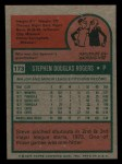 1975 Topps Mini #173  Steve Rogers  Back Thumbnail