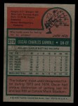 1975 Topps Mini #213  Oscar Gamble  Back Thumbnail