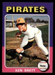 1975 Topps Mini #250  Ken Brett  Front Thumbnail