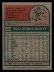 1975 Topps Mini #323  Fred Holdsworth  Back Thumbnail