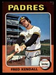 1975 Topps Mini #332  Fred Kendall  Front Thumbnail