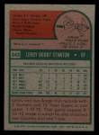 1975 Topps Mini #342  Leroy Stanton  Back Thumbnail