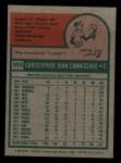 1975 Topps Mini #355  Chris Cannizzaro  Back Thumbnail