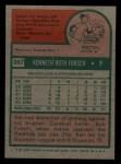 1975 Topps Mini #357  Ken Forsch  Back Thumbnail