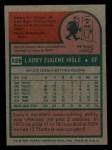 1975 Topps Mini #526  Larry Hisle  Back Thumbnail