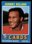 1971 Topps #123  Johnny Roland  Front Thumbnail