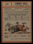 1962 Topps #147  Jimmy Hill  Back Thumbnail