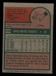 1975 Topps Mini #558  Dave Roberts  Back Thumbnail