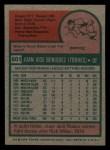 1975 Topps Mini #601  Juan Beniquez  Back Thumbnail