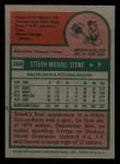 1975 Topps Mini #388  Steve Stone  Back Thumbnail